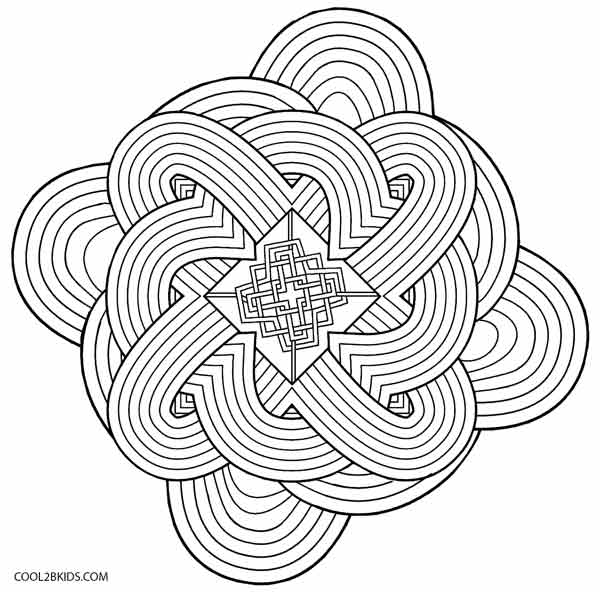 hard illusion coloring pages - photo#26