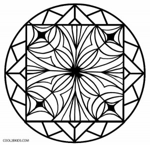 Kids Kaleidoscope Coloring Pages