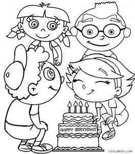 Little Einstein Birthday Coloring Pages