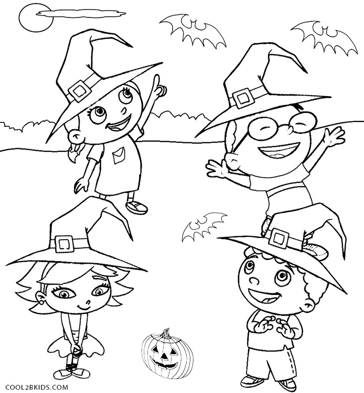 little einstein halloween coloring pages