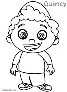 Little Einstein Quincy Coloring Pages