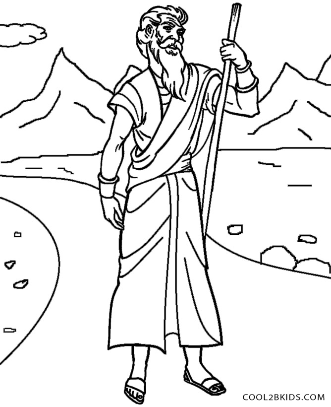 Printable Moses Coloring Pages For Kids Cool2bKids