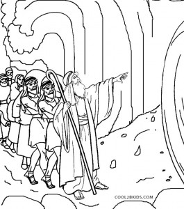 Moses Coloring Pages Red Sea Crossing