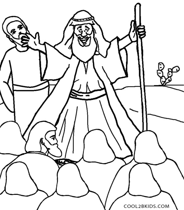 Printable Moses Coloring Pages For Kids | Cool2bKids