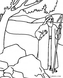 Moses Coloring Pages for Preschoolers