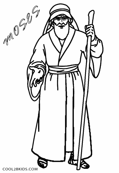 moses coloring pages free - photo#15
