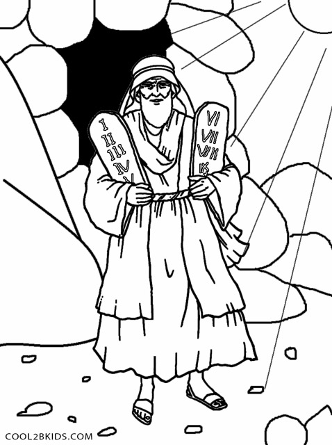 Moses Ten Commandments Coloring Pages