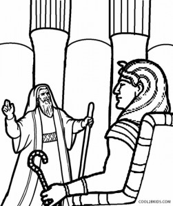Moses and Pharaoh Coloring Pages