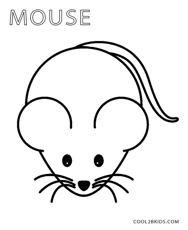 mouse coloring pages preschool - Coloring Picture Of A Mouse