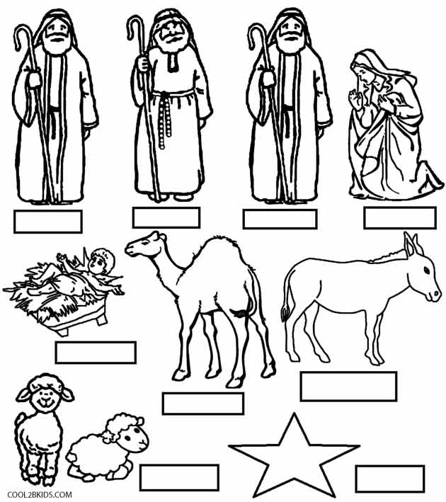 coloring pages of nativity scene - photo#27