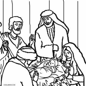 Nativity Scene Coloring Pages to Print