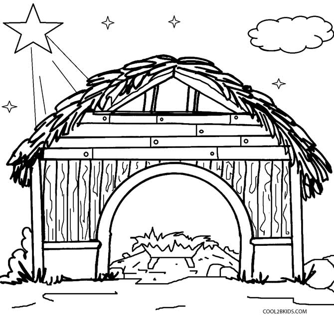 nativity scene coloring book pages - photo#33