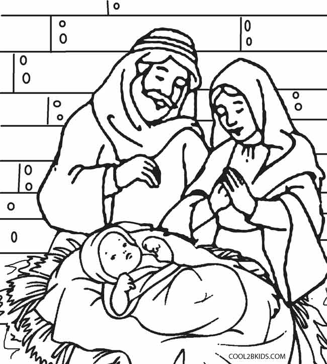 nativity scene coloring book pages - photo#5
