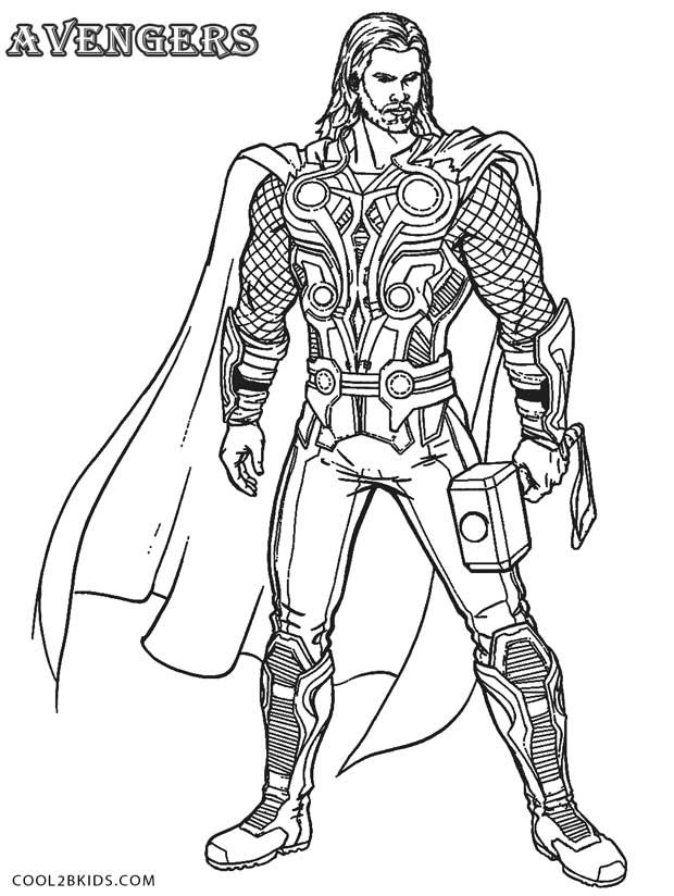 free coloring pages of thor avenger