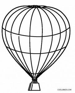 Blank Hot Air Balloon Coloring Page