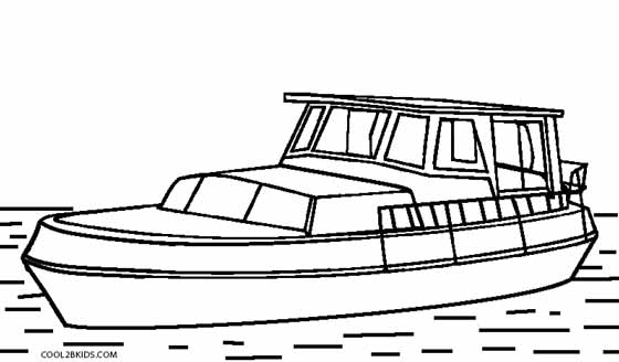 coloring book pages boat - photo#9