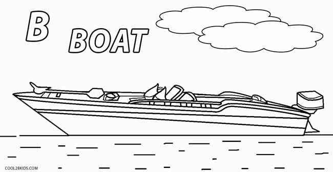 coloring book pages boat - photo#14