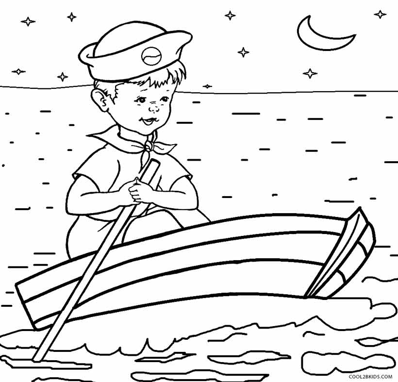 Printable Boat Coloring Pages For