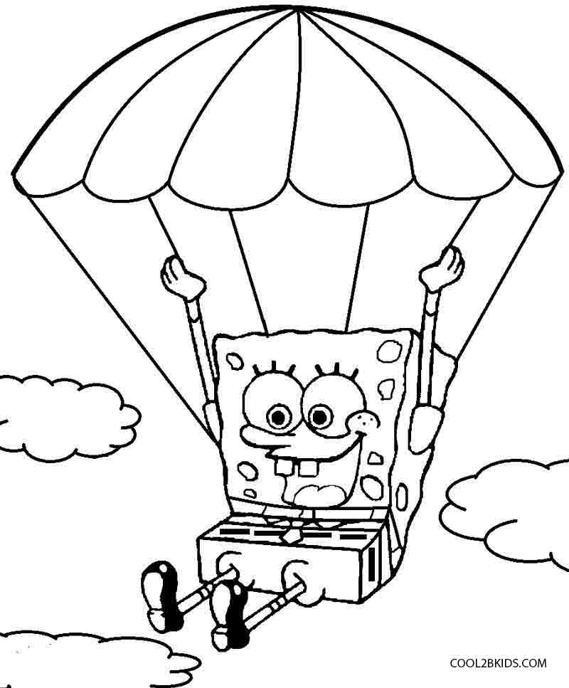 spongebob fun coloring pages - photo#14