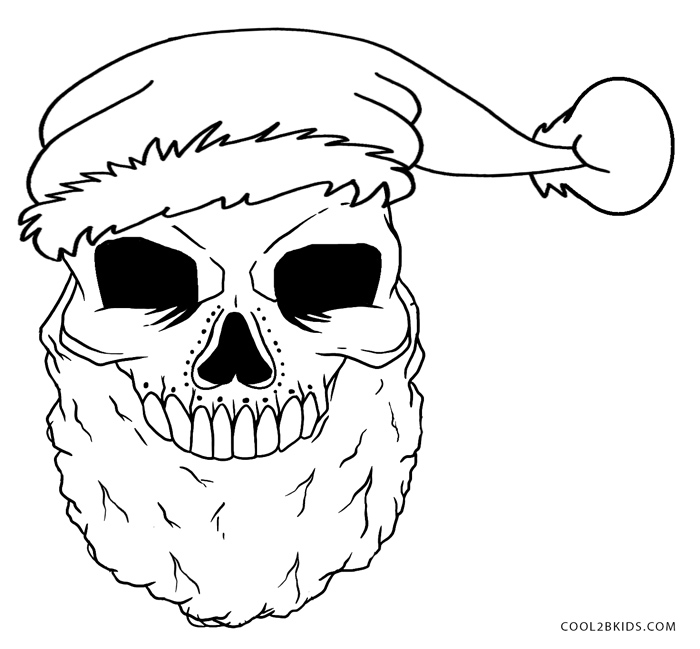 - Printable Skulls Coloring Pages For Kids