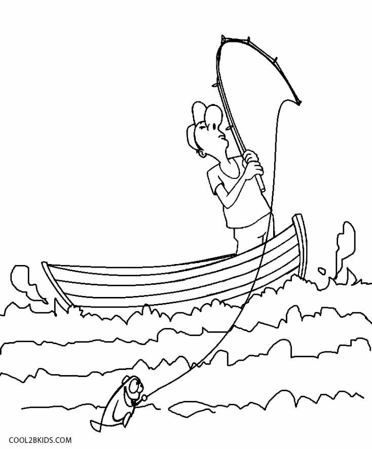 coloring book pages boat - photo#7