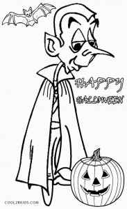 Printable Vampire Coloring Pages
