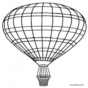 Hot Air Balloon Basket Coloring Page