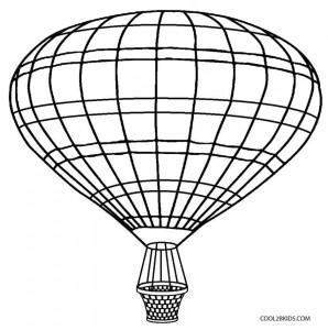 Hot Air Balloon Basket Coloring Page