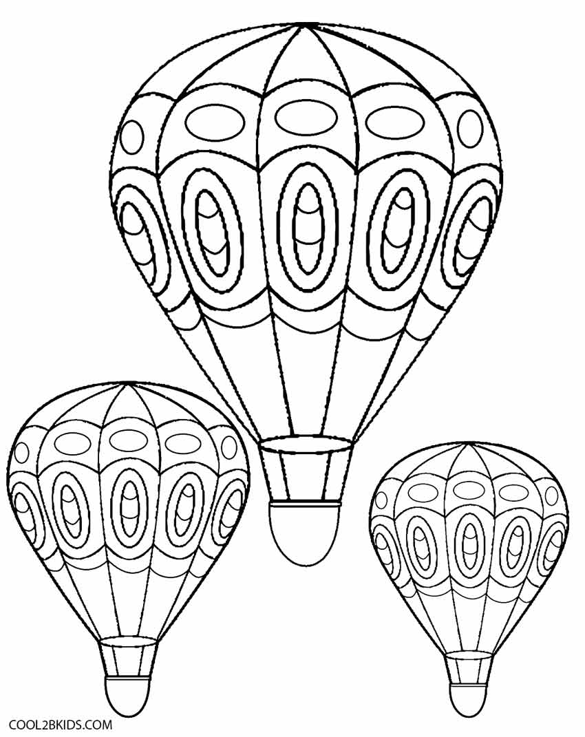 Download or print this amazing coloring page: Balloon Coloring Pages |  Molde de balão, Balão para colorir, Modelos ... | 1071x850