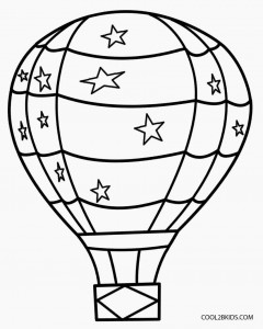 Printable Hot Air Balloon Coloring