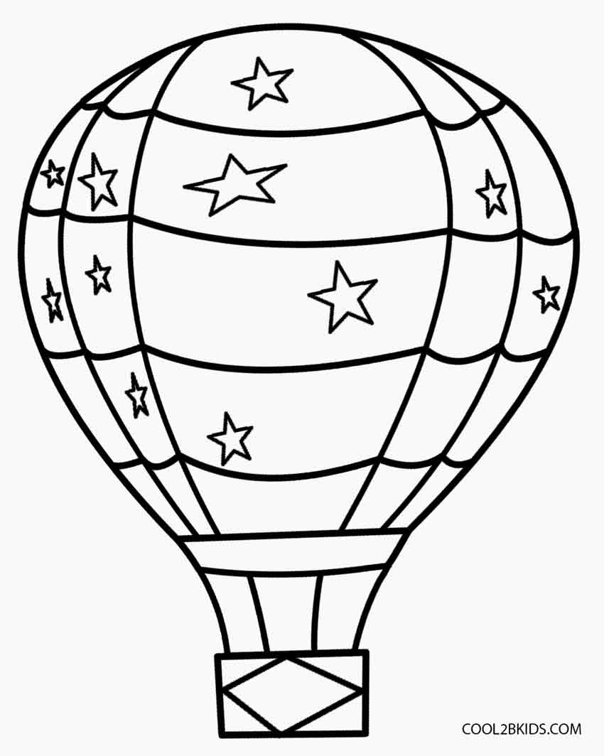 It is a picture of Peaceful Hot Air Balloon Template Printable