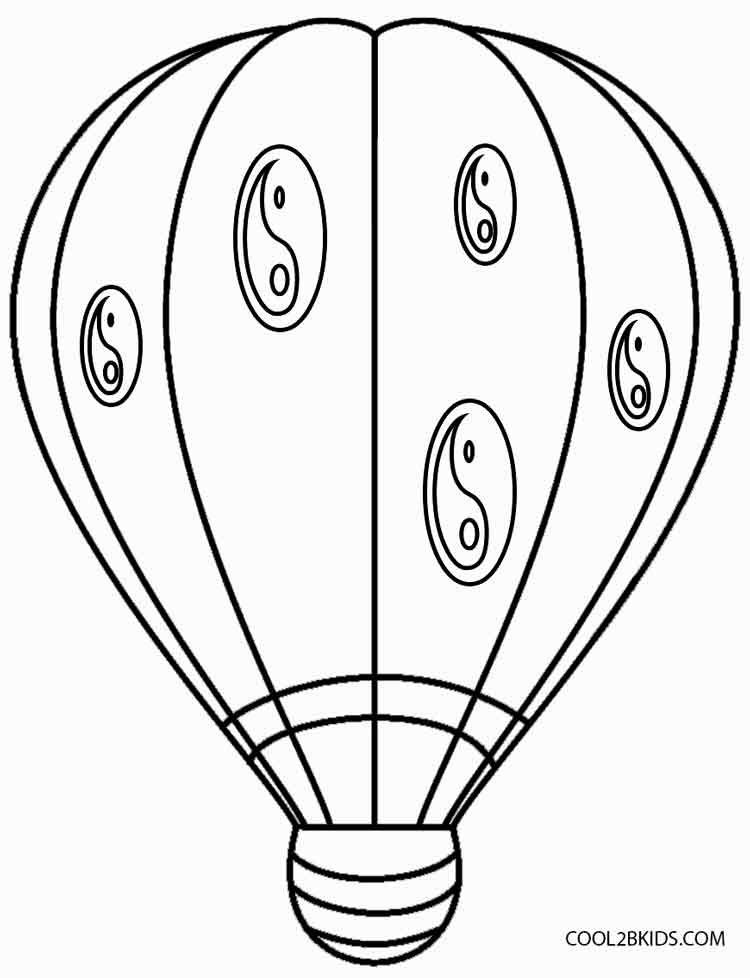 Hot Air Balloon Coloring Pages Cool2bkids