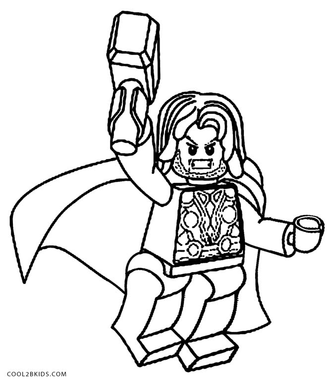 lego thor coloring pages - Coloring Pages Lego Superheroes
