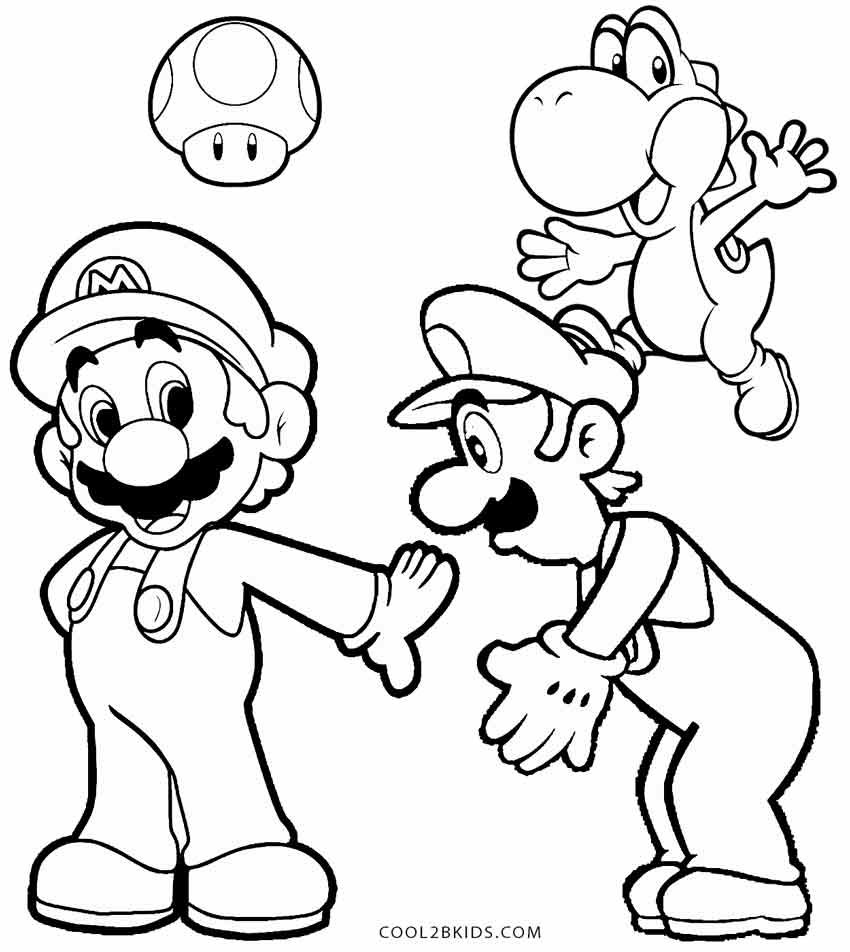 luigi coloring pages printable - photo#34