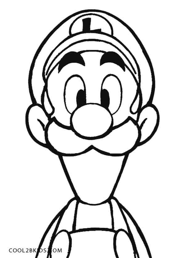 Printable Luigi Coloring Pages For Kids Cool2bkids