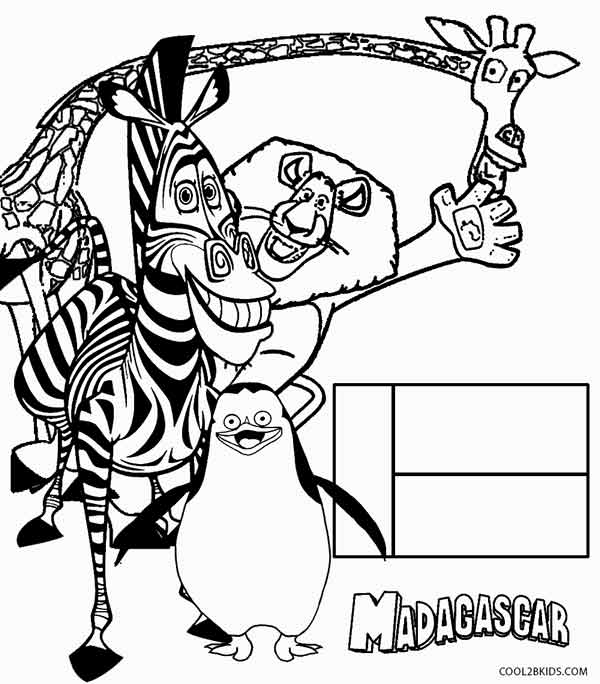 Madagascar online coloring pages ~ Printable Madagascar Coloring Pages For Kids | Cool2bKids