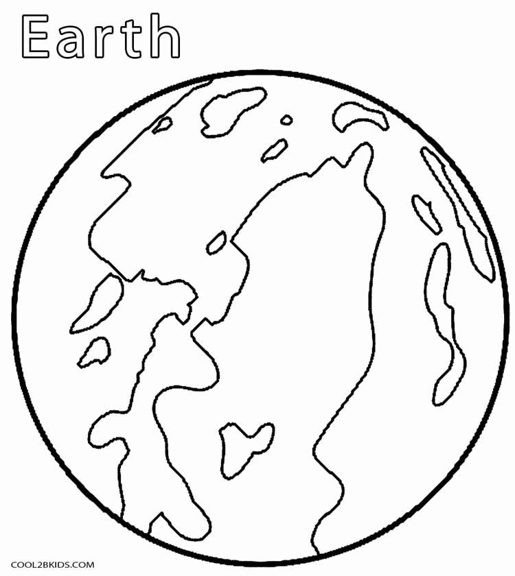 earth coloring page - printable planet coloring pages for kids cool2bkids
