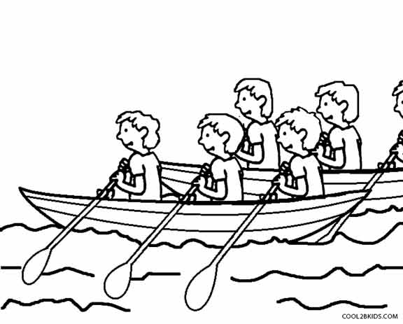 Racing Boat Coloring Pages