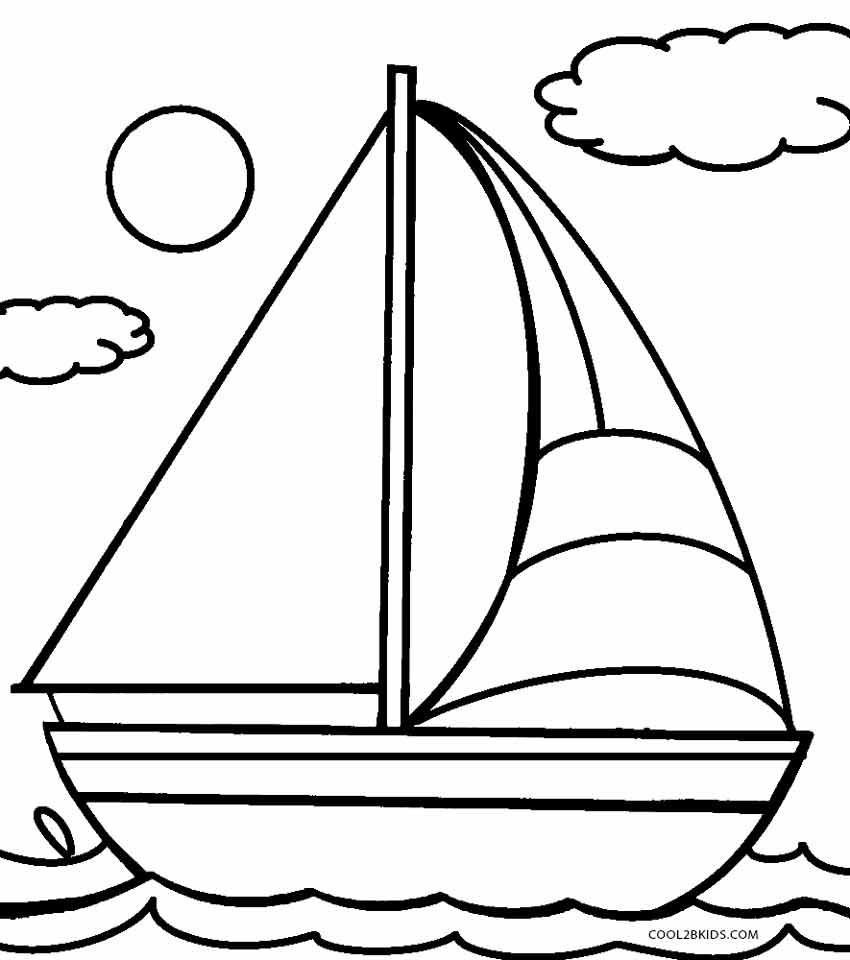 coloring book pages boat - photo#5