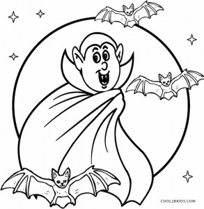 halloween vampire bat coloring pages | Printable Vampire Coloring Pages For Kids | Cool2bKids