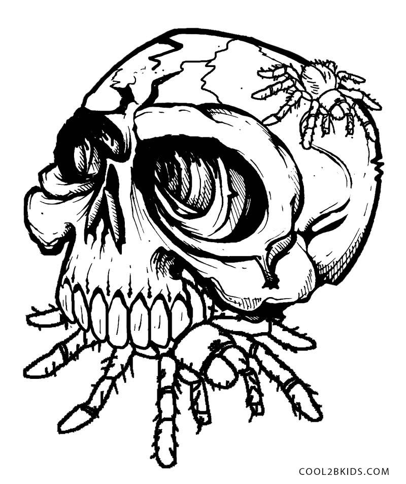 Evil Skull Coloring Pages Coloring Coloring Pages Skulls Coloring Pages