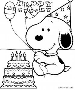 Pics Photos - Child Coloring Happy Birthday Snoopy