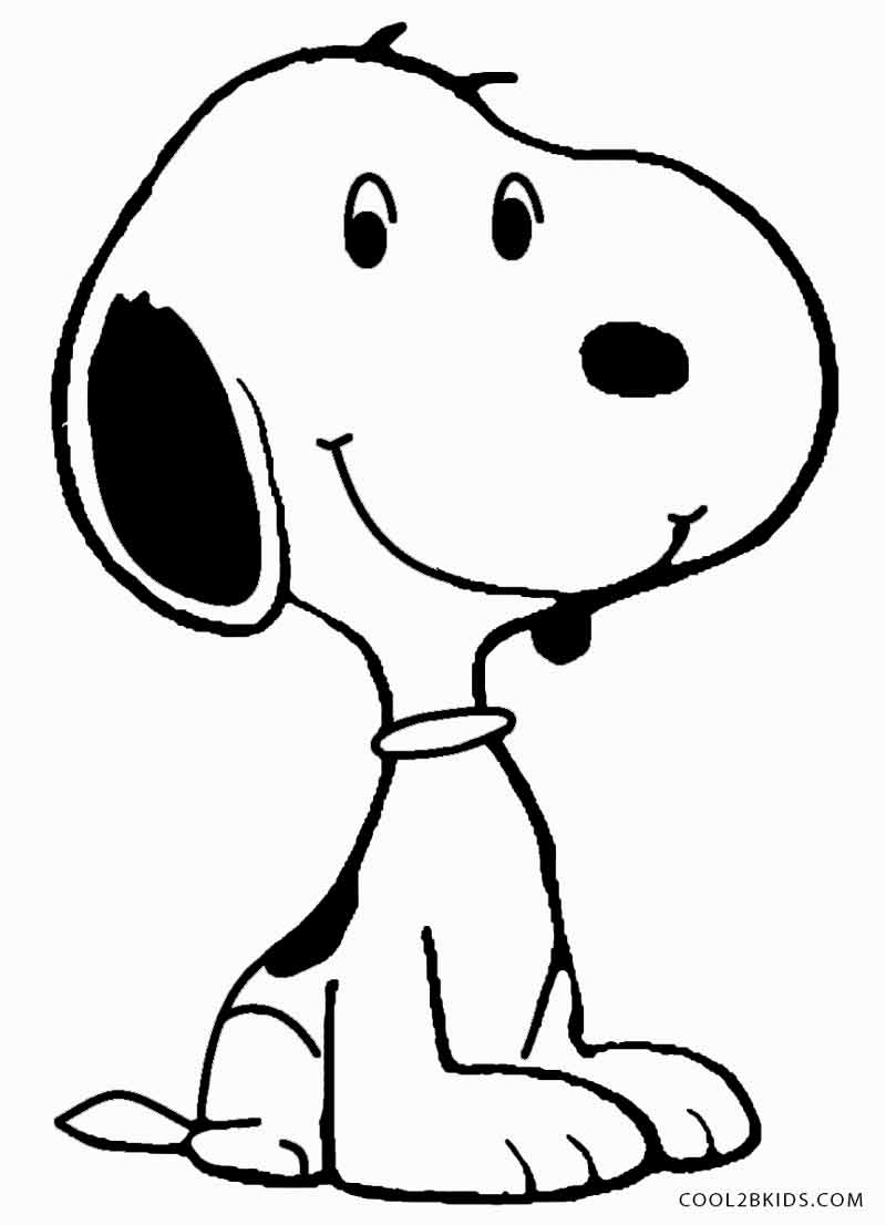 Printable Snoopy Coloring Pages