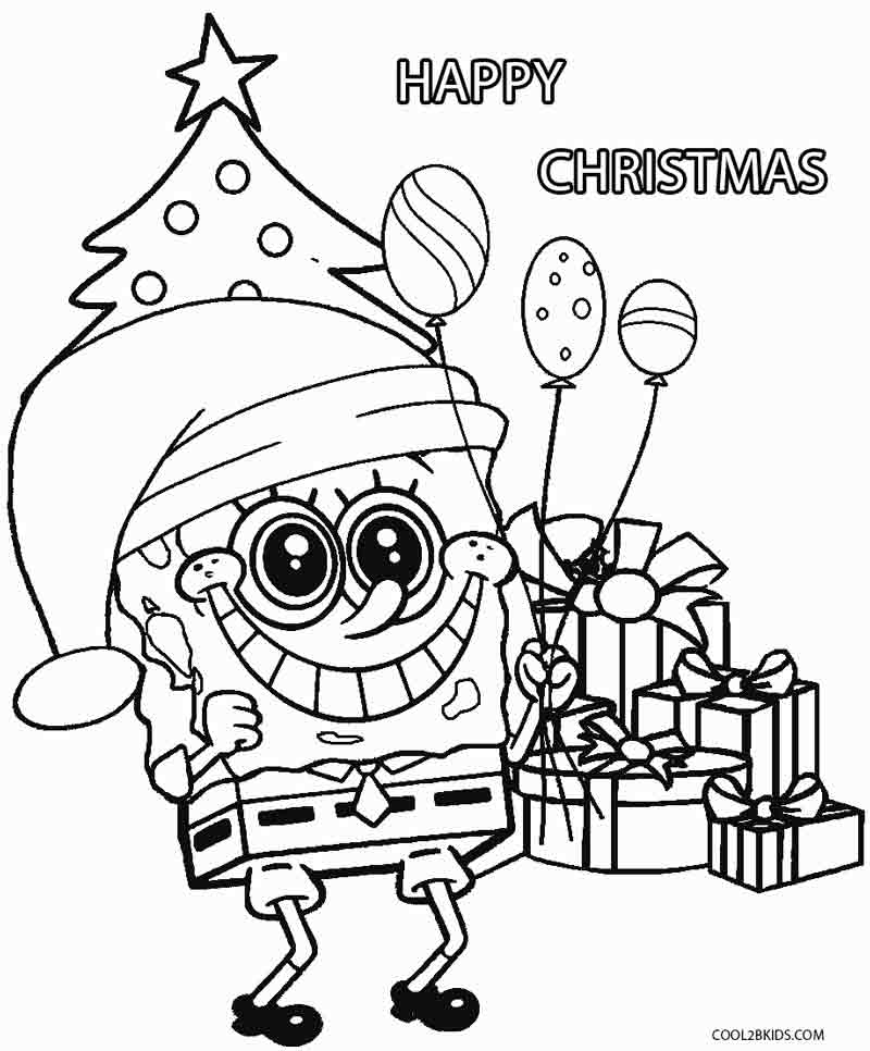 Delicieux Spongebob Christmas Coloring Pages