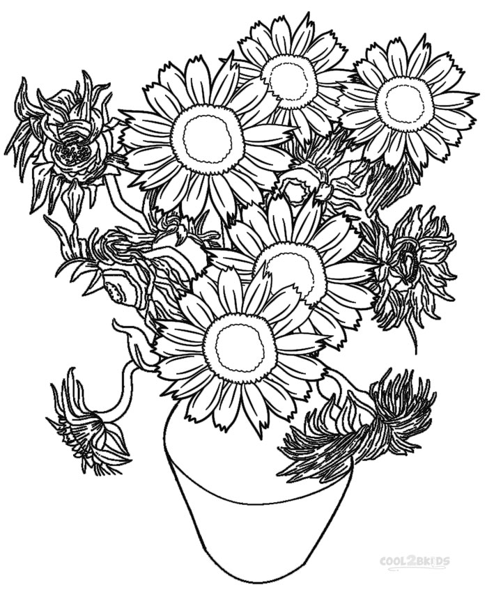 Printable Sunflower Coloring Pages For Kids  Cool2bKids  Part 756