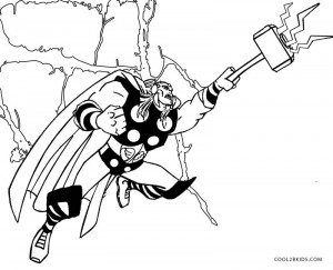 Printable Thor Coloring Pages For
