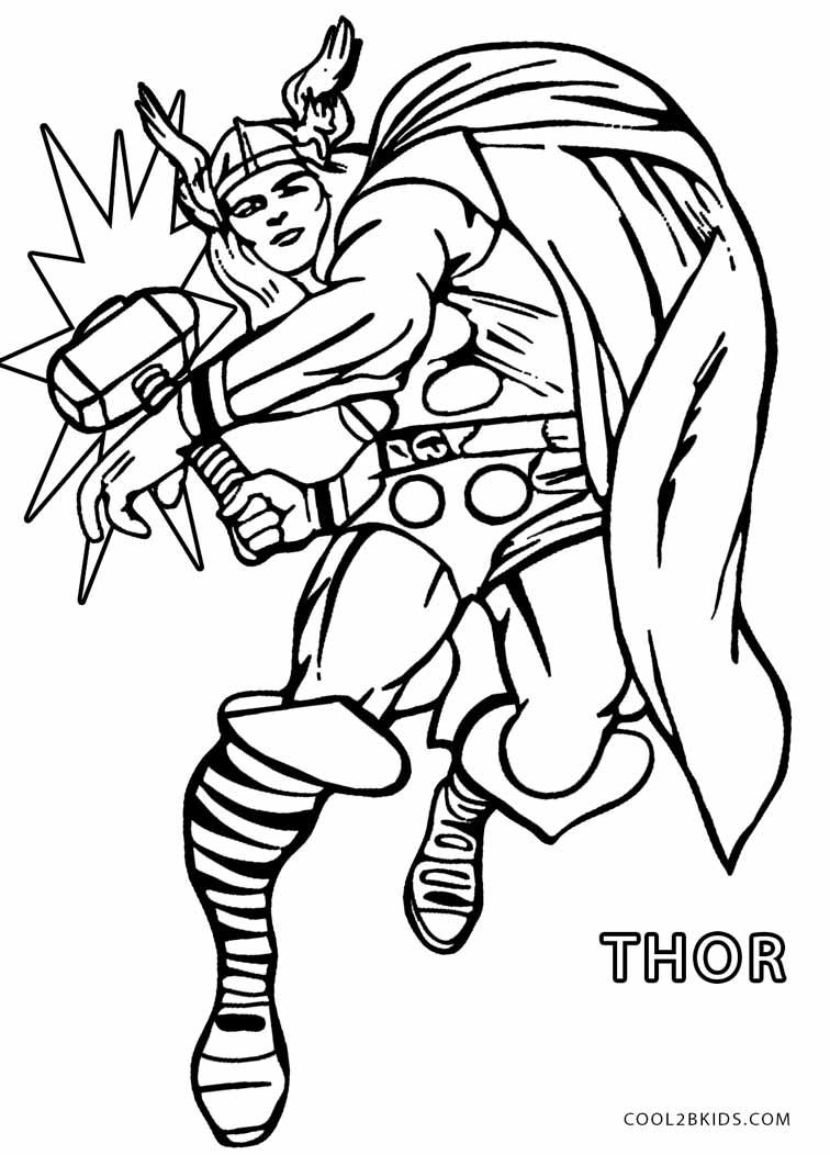Free Thor Avengers Coloring Pages