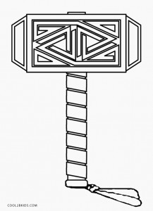Thor Hammer Coloring Pages