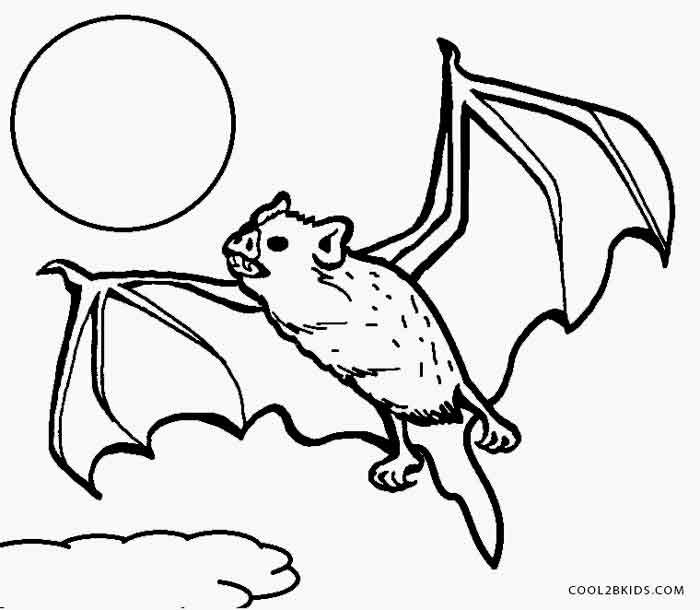 Printable vampire coloring pages for kids cool2bkids for Bats coloring pages