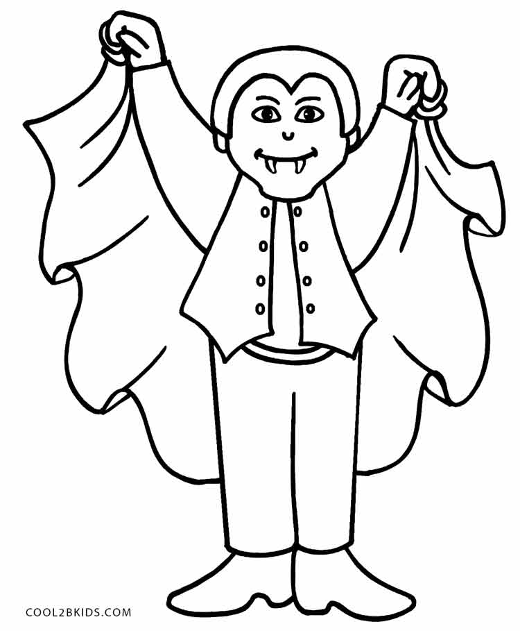printable vampire coloring pages - photo#13